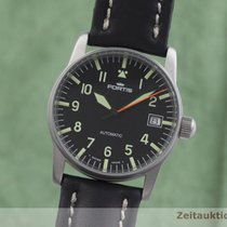 Fortis Flieger Steel 34mm Black