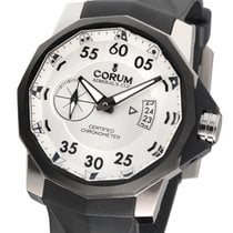 Corum Admiral's Cup Competition 48 Tytan 48mm Biały Arabskie