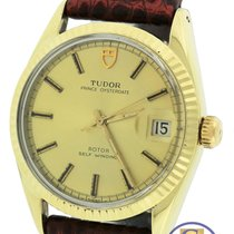 Tudor Prince Oysterdate 33mm 14K Gold Shell Stainless 90715 Watch