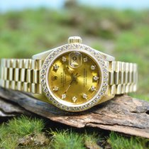Rolex Lady Datejust, orig. Diamanten Lünette & orig. Zifferbla...