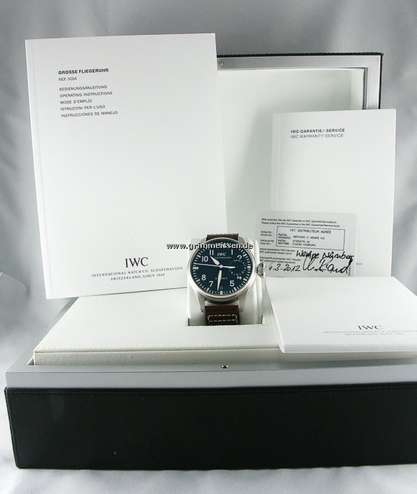 Grimmeisen Uhren iwc fliegeruhr for 10 104 for sale from a trusted seller on chrono24