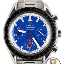 Omega Speedmaster Reduced Chronograph Blue Limited Edit. Cart...