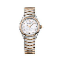 Ebel Wave Gold/Steel 30mm Mother of pearl No numerals