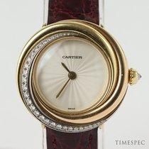 Cartier Gelbgold Quarz Keine Ziffern 26mm gebraucht Trinity