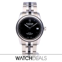 Tudor Glamour Date Steel 36mm Black