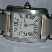 Cartier W51007Q4 Gold/Steel Tank Française 25mm pre-owned United States of America, New York, Greenvale