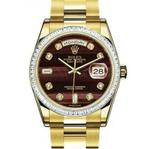 Rolex Day-Date Or rose 36mm Brun
