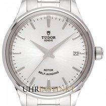 Tudor Style Stahl 34mm Silber Deutschland, Schwabach