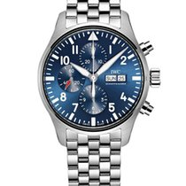 IWC Pilot Chronograph Steel 43mm Blue Arabic numerals United States of America, Iowa, Des Moines