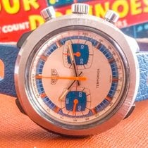 Heuer Plastic Manual winding Silver 42mm pre-owned