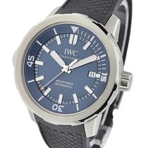 IWC IW329005 Aquatimer in Steel - on Black Rubber Strap with...