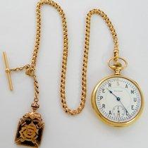 Waltham Vanguard 14K gold w/14K Chain & ORC fob.  Unique Piece