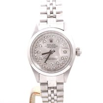Rolex Ladies Datejust - Silver String Diamond Dial - Jubilee...