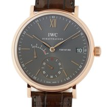 IWC Rose gold Manual winding 45mm new Portofino Hand-Wound