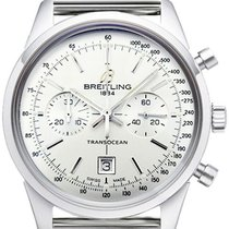 Breitling Transocean Chronograph 38 pre-owned 38mm Silver Chronograph Date Steel