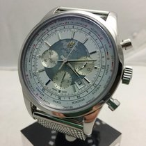 Breitling Transocean Chronograph Unitime Steel 46mm White