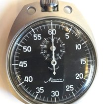 Minerva Watch pre-owned 1975 Steel 61mm Arabic numerals Manual winding Watch only