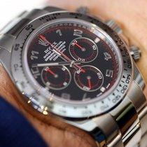Rolex Daytona Weißgold 40mm Schwarz Arabisch Schweiz, Geneve