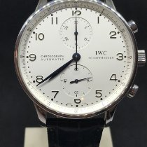 IWC Portuguese Chronograph Stal 41mm Biały Arabskie