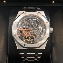 Audemars Piguet Royal Oak Double Balance Wheel Openworked pre-owned 41mm Transparent Steel