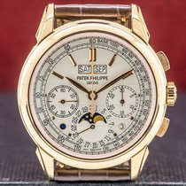 Patek Philippe Perpetual Calendar Chronograph Rose gold 41mm Silver United States of America, Massachusetts, Boston
