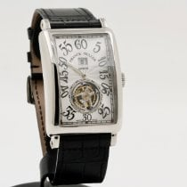 Franck Muller Platinum Manual winding Silver Arabic numerals 34mm pre-owned Long Island