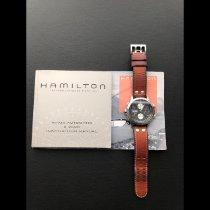 Hamilton Khaki X-Wind rabljen 44mm Crn Kronograf Datum, nadnevak Koza