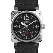 Bell & Ross BR 03-97 Réserve de Marche new 2021 Automatic Watch with original box and original papers BR0397-BL-SI/SCA