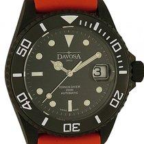 Davosa Ternos Diver Black Kautschuk Automatik Armband Kautschu...