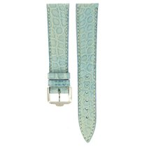 Paul Picot Light Blue Alligator Leather Strap 19mm/16mm