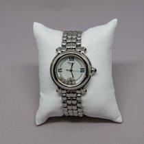 Chopard Damenuhr Happy Sport Quarz gebraucht Uhr mit Original-Box und Original-Papieren