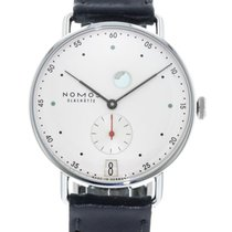 NOMOS 37mm Manual winding 2010 pre-owned Metro (Submodel) White