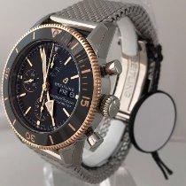 Breitling Superocean Héritage II Chronographe Gold/Stahl 44mm Schwarz