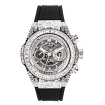 Hublot White gold Automatic No numerals 45mm pre-owned Big Bang