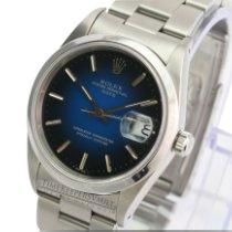 Rolex Oyster Perpetual Date Zeljezo 34mm Bjel Bez brojeva
