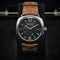 Panerai Radiomir 10 Days GMT pre-owned 47mm Black Date GMT Leather
