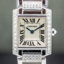 Cartier Tank Française White gold 20mm Silver Roman numerals United States of America, Massachusetts, Boston