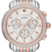 Michele Steel 38mm Quartz MICHELE SIDNEY DIAMOND ROSE TWO-TONE MOP DIAL MWW30A000036 new United States of America, New Jersey, Edgewater
