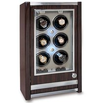 Rapport Paramount Macassar Six Watch Winder Cabinet