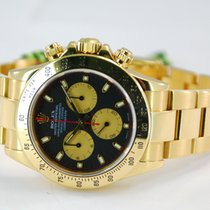 "Rolex Daytona ""Paul Newman"" 18kt Yellow Gold Black..."