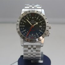 Glycine Airman Base 22GMT Blue Dial