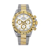 Rolex Daytona Gold/Steel 40mm White Arabic numerals