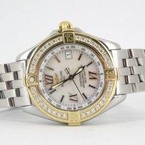 Breitling B-class mother of pearl dial diamond bezel