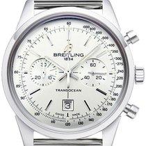Breitling New Transocean 38 A131012/g750/171a Chronograph Mens...