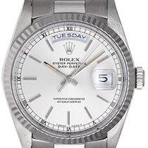 Rolex Day-Date President Men's 18K White Gold Watch 18239...