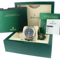 Rolex 2018  Rolex Oyster Perpetual 39mm Blue Green Stainless...