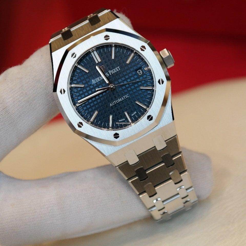 finest selection bbc80 67ce5 Audemars Piguet Royal Oak Selfwinding 37mm Steel Blue Dial Watch