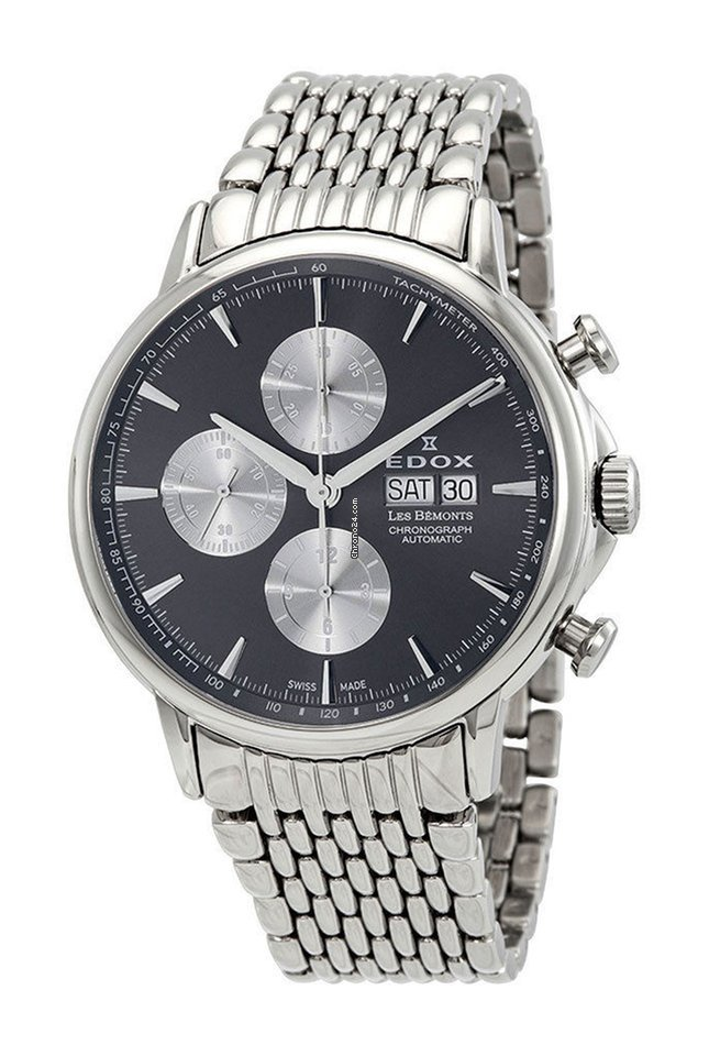 Edox Les Bémonts Steel - all prices for Edox Les Bémonts Steel watches on  Chrono24 762d5d4d43