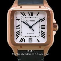 Cartier Santos (submodel) Or rose 39.8mm Blanc France, Paris