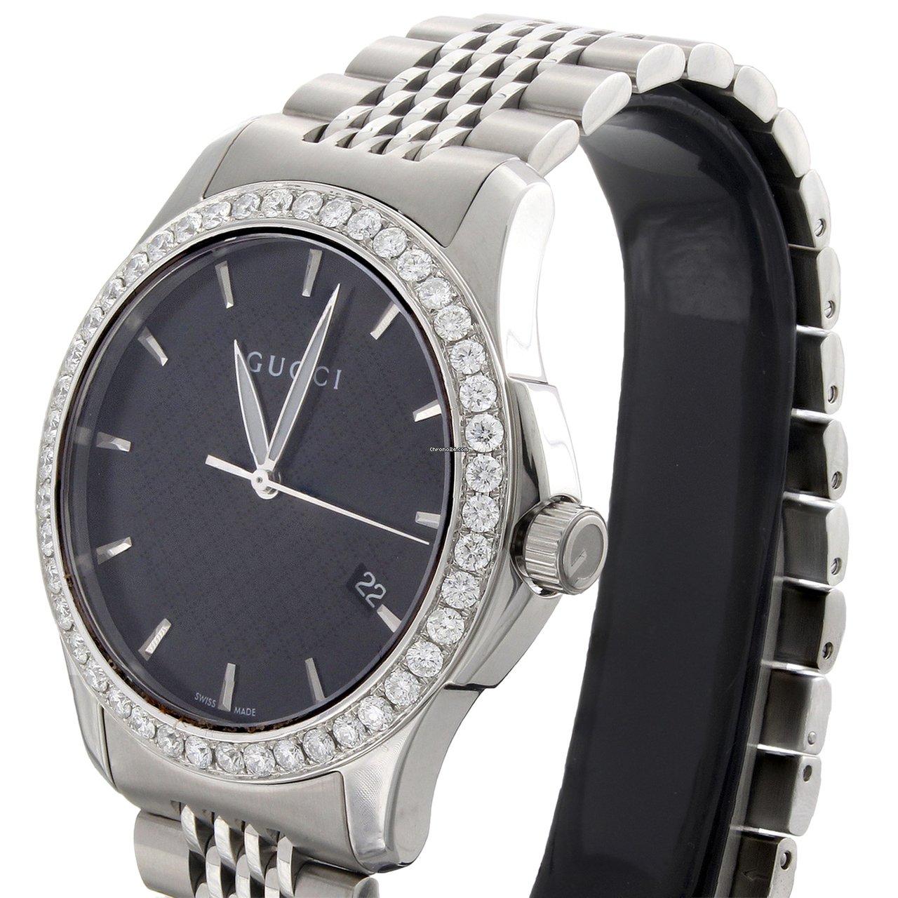 032181f3c1c Gucci Ya126402 Diamond Watch Black Dial G-Timeless 38mm... for ...